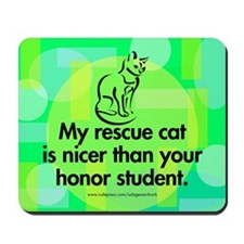 Mousepad. Nice rescue cat.