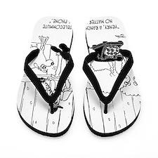 Telecommuting Cartoon 6733 Flip Flops