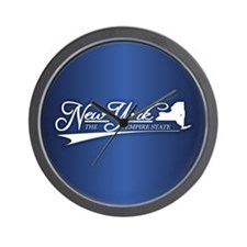 New York State of Mine Wall Clock