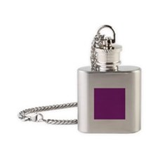 Orchid Solid Color Flask Necklace
