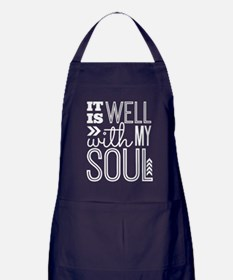 It is Well With My Soul Apron (dark)