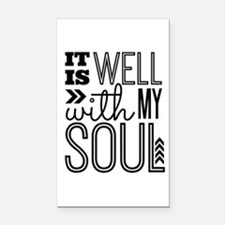 It is Well With My Soul Rectangle Car Magnet