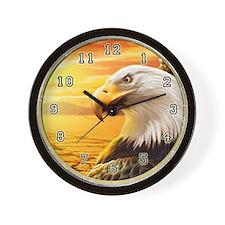 American Bald Eagle Wall Clock