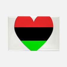 Cute American flag black Rectangle Magnet