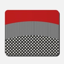 Red Pattern Mousepad