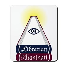 Librarian Illuminati Mousepad