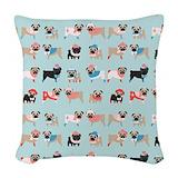 Pug Woven Pillows