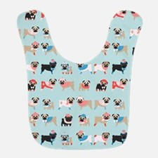 Winter Pugs Bib