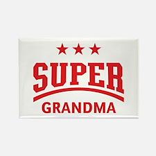 Cute Swim team grandpa grandma Rectangle Magnet