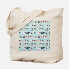 Winter Pugs Tote Bag