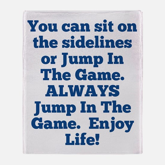 Jump In The Game Throw Blanket