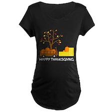 Happy Thanksgiving Maternity T-Shirt