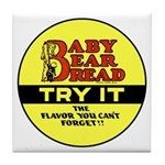 Baby Bear Bread #2 Tile Coaster