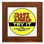Baby Bear Bread #2 Framed Tile
