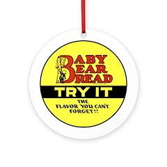 Baby Bear Bread #2 Ornament (Round)