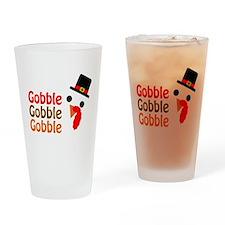 Gobble, gobble, gobble Drinking Glass