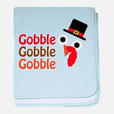 Gobble, gobble, gobble baby blanket