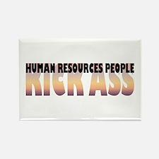 Human Resources People Kick Ass Rectangle Magnet (
