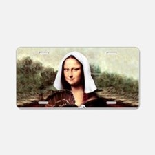 Mona Lisa Thanksgiving Aluminum License Plate