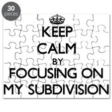 Keep Calm by focusing on My Subdivision Puzzle