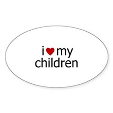 children Oval Decal