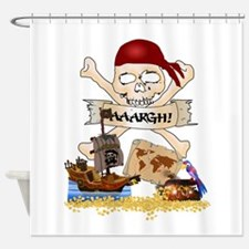 Pirate Day Icons Shower Curtain