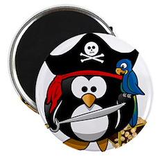 Cute Pirate Captain Penguin s Magnets