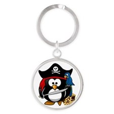 Cute Pirate Captain Penguin Keychains