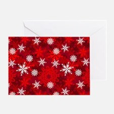 Snowflakes-Red - Greeting Card