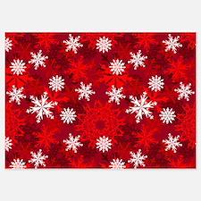 Snowflakes-Red - Invitations Invitations