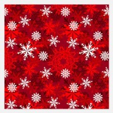 Snowflakes-Red - Invitations
