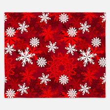 Snowflakes-Red - King Duvet