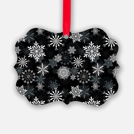 Snowflakes-Black - Ornament