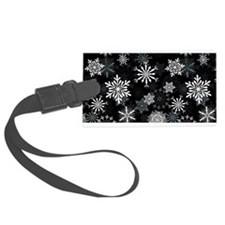 Snowflakes-Black - Luggage Tag