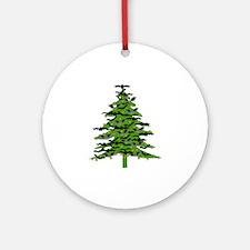 Christmas Bat Tree Ornament (Round)