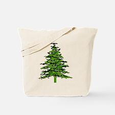 Christmas Bat Tree Tote Bag