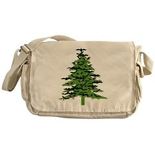 Christmas Bat Tree Messenger Bag