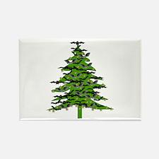 Christmas Bat Tree Rectangle Magnet