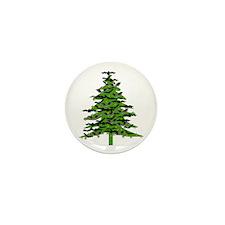 Christmas Bat Tree Mini Button (10 pack)