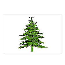 Christmas Bat Tree Postcards (Package of 8)