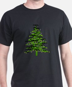 Christmas Bat Tree T-Shirt