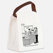 Bank Cartoon 2922 Canvas Lunch Bag