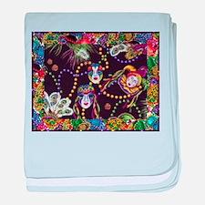 Best Seller Mardi Gras baby blanket