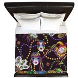 New orleans mardi gras Luxe King Duvet Cover