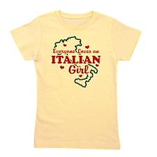 Cute Everyone loves an italian girl Girl's Tee