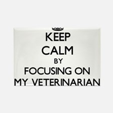 Keep Calm by focusing on My Veterinarian Magnets