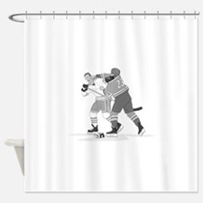 Cute Ice hockey Shower Curtain