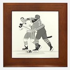 Cute Ice hockey Framed Tile