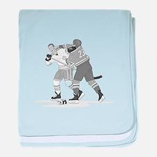 Cute Ice hockey baby blanket