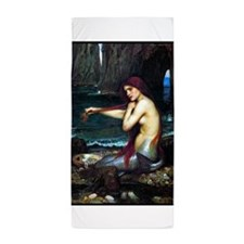 A MERMAID, 1901, OIL ON CANVAS.png Beach Towel